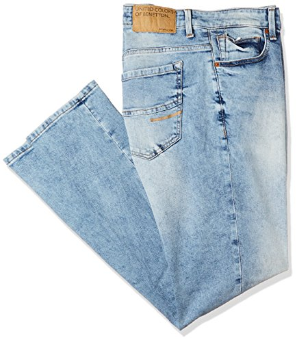 United Colors of Benetton Men's Slim Fit Jeans (18P4L23R8114I_Blue_38)
