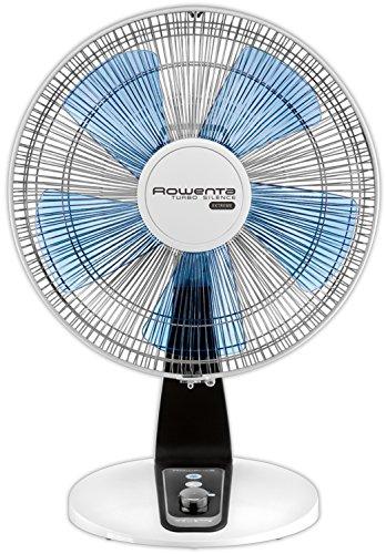Rowenta VU2640F0 Ventilateur de Table Turbo Silence Extrême 40 cm Silencieux Boost Oscillation 4 Vitesses 70W Ventilation Bureau Blanc