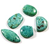 Gems&JewelsHub 84.85ct 100% naturale pietra Crisocolla mix sciolto cabochon 5pz lotto all ingrosso