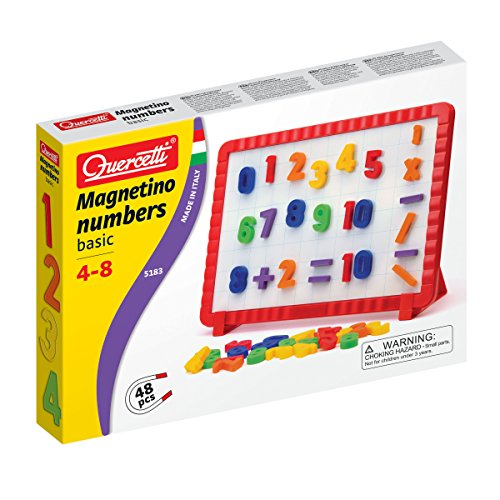 Quercetti- Magnetino Numbers Basic, Multicolore, 05183