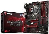 MSI Z370 Gaming Plus Scheda Madre, Socket LGA 1151, supporta memorie DDR4 4000+ (OC), Nero