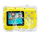 GDC5261 impermeable cámara digital con zoom digital de 4x / 8MP / 2' TFT LCD de la pantalla / Cámara impermeable para niños (Amarillo)