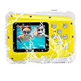 GDC5261 Waterproof Digital Camera with 4x Digital Zoom / 8MP / 2 Inch TFT LCD Screen Waterproof Camera for Kids Christmas Gift (Yellow)