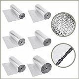 Biard Isolierende Luftpolsterfolie - Wärmedämmende Isolierungsfolie aus Aluminium 1,2 m x 5 m - 300g/m2 - Wärme Isolierung - Schalldämmung - Wasser - & Dampfresistent