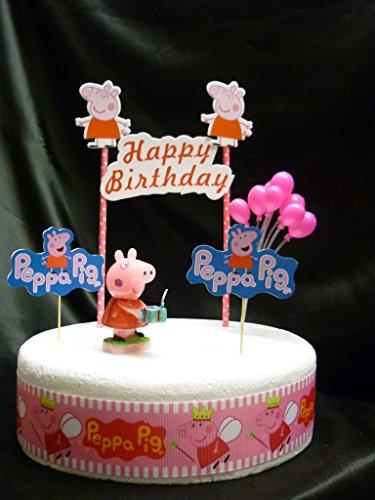 Set Di Decorazioni Peppa Pig Per Torta Di Compleanno Salepepeqb