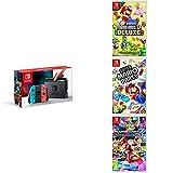 Pack Nintendo Switch Néon + New Super Mario Bros U Deluxe + Super Mario Party + Mario Kart 8 Deluxe