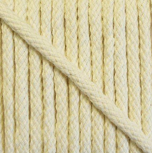 5 m Baumwollkordel 6 mm rohweiß