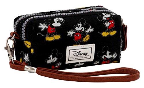 Disney Classic Mickey Moving Beauty Case, 14 cm, Nero (Negro)