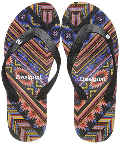 Desigual Shoes (Lola_Mexican), Infradito Donna, Nero (Negro 2000), 39 EU