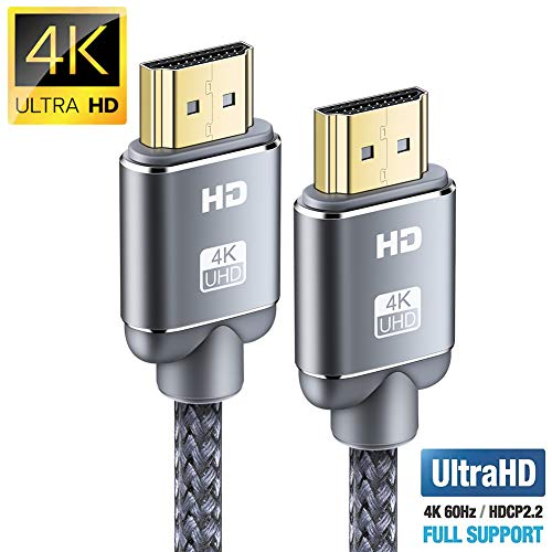 Cavo HDMI 4K 2m, Snowkids 2.0 a/b ad alta velocità con Ethernet, cavo hdmi 4K 2.0/1.4a, video UHD...