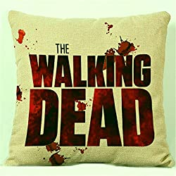 Fashion The Walking Dead impresa funda de cojín 45 x 45 cm almohada Pillow Case