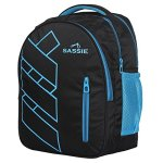 Sassie Polyester 41 L Black Blue School and Laptop Bag with 3 Large Compartments 19