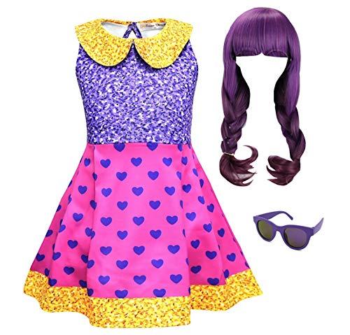 Simile LOL Abito Costume Carnevale Bambina Simil BB Super Girl Dress LOLSUBB1 (Set Completo 3 Pezzi - all 3 Pieces, 120)