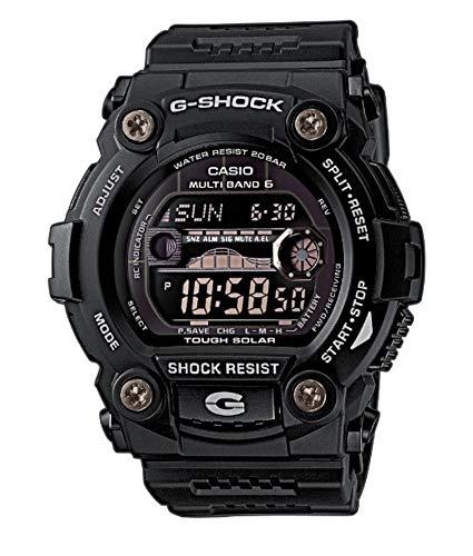 Casio G-Shock Digital Herrenarmbanduhr GWB-7900 schwarz, Solar und Funkuhr, 20 BAR