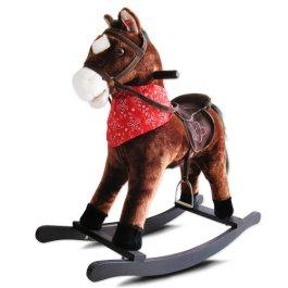 Jago Cavallo cavallino a dondolo per bambini con effetti sonori in peluche ca. 74/30/64 cm colore a
