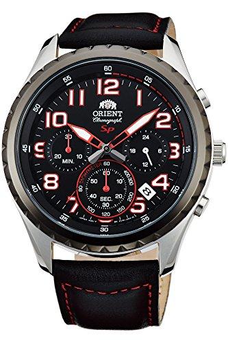 Orient Orologio Cronografo Quarzo Uomo con Cinturino in Pelle FKV01003B0