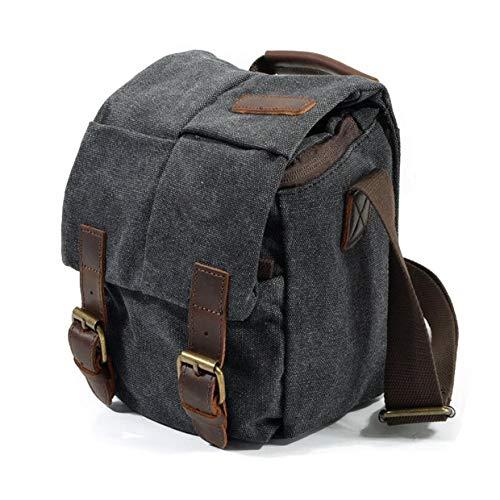 Vianber Borsa Fotografica SLR, Borsa a tracolla Fotografia vintage Impermeabile Tela Camera Bag con...