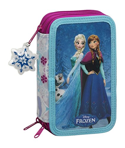 Frozen Friends Forever - Astuccio a 3 scomparti con 41pezzi, colore: blu