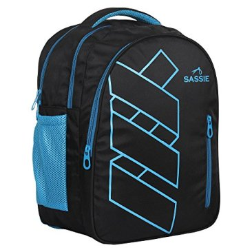 Sassie Polyester 41 L Black Blue School and Laptop Bag with 3 Large Compartments 10