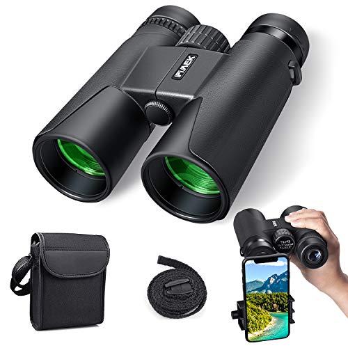 Binocolo Professionale,10x42 Compact HD Binocolo con supporto per smartphone per il birdwatching,...
