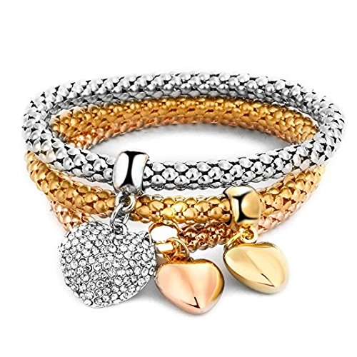 Hot And Bold Mesmerising Crystal Butterfly 3 Pcs Alloy And Australian Crystals Charms Bracelets For Women