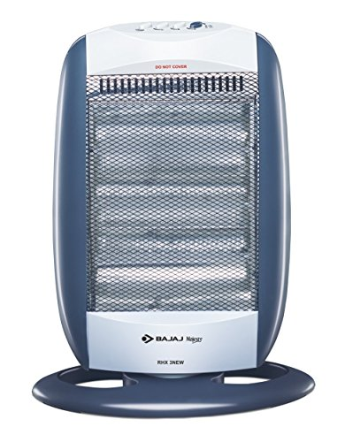 Bajaj New Majesty RHX 3 1200-Watt Room Heater (Black and Silver)