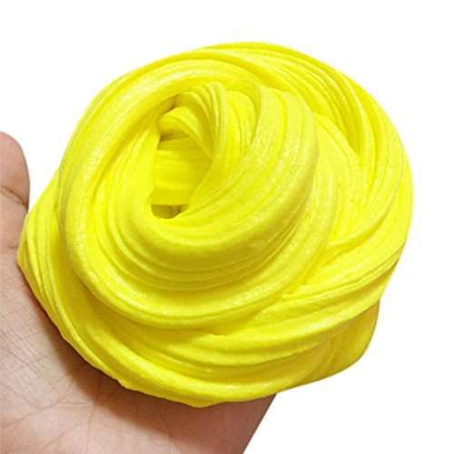 Lightning Deals Clearance Sludge Toys,ZYooh Egg Colorful Soft Slime Yellow Scented Stress Relief Toy Intelligent Hand Gum Mud