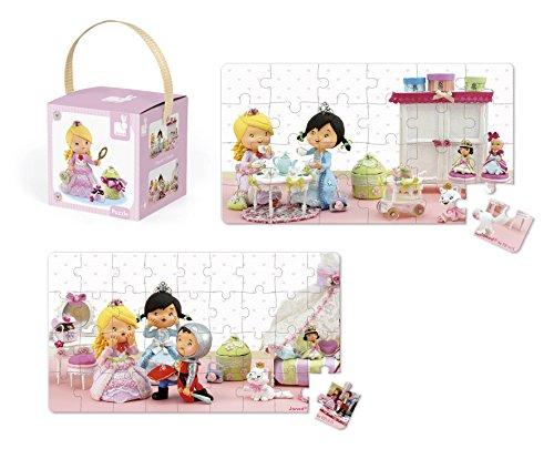 Janod J02770 - Lovely Puzzles Rose Gioca a Fare la Principessa