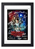 Stranger Things Cast Signed Autograph Signature Autographed A4 Poster Photo Print Photograph Artwork Wall Art Picture TV Show Series Season DVD Boxset Memorabilia Gift (POSTER ONLY)