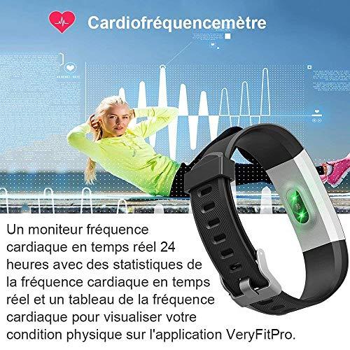 Montre Connectée, Willful Bracelet Connectée Fitness Tracker d'Activité Cardiofréquencemètre Etanche IP67 Smartwatch Cardio Podomètre Sport ... 8