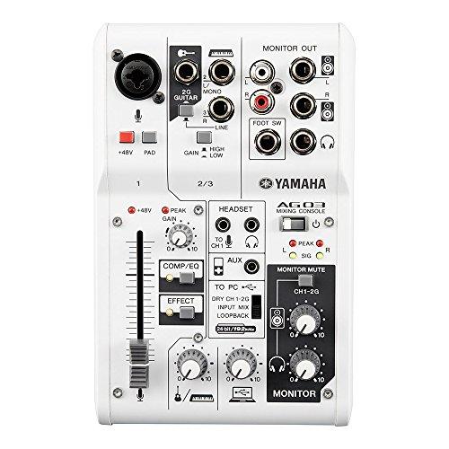 Yamaha CAG03 - Mesa de mezcla compacta, color blanco