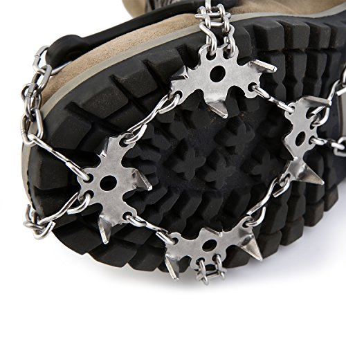 OUTAD 18 Teeth Stainless Steel Crampons 2