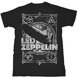 Led Zeppelin Shook Me Jimmy Page Rock oficial Camiseta para hombre (Large)