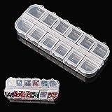 12vasi di nail art Storage Case contenitore box strass scrapbooking perline di cristallo orecchino gioielli libero di