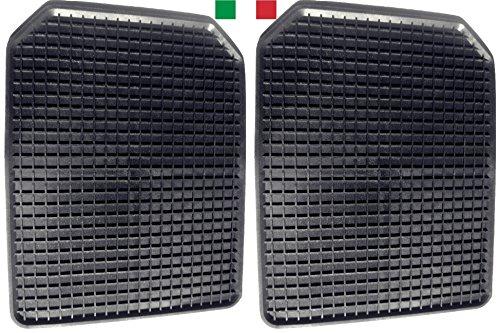Cenni 35718 Set 2 Tappetini Auto in Gomma a Vaschetta 53 x 42, Salva Tappeti Made in Italy