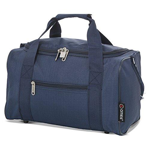 5 Cities 5 Cities 35x20x20 Maximum Ryanair Cabin Hand Luggage Holdall Flight Bag (Navy) Borsone 35...