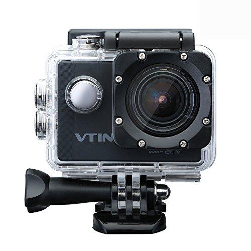 Vtin Eypro 1 WIFI Cámara Deportiva,1080p Vídeo y 12MP FHD Imagen,Sumergible hasta 30m y Gran Pantalla LCD de 2-Pulgadas, Multiples Accesorios para Deportes y Actividades