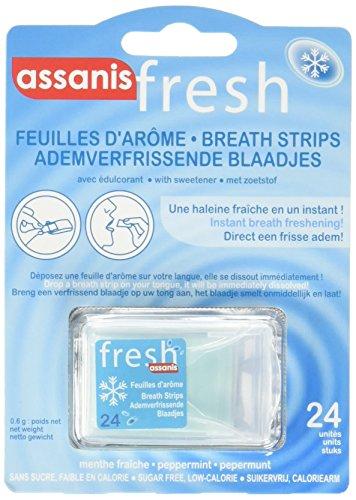 ASSANIS Fresh Feuilles d arôme Menthe Fraîche Haleine Fraîche - 24 feuilles - Lot de 6 22