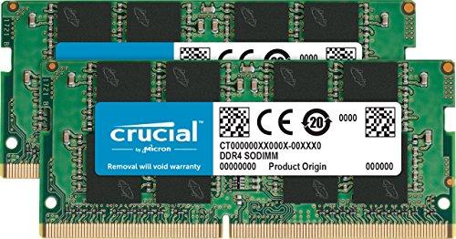 Crucial CT2K16G4SFD8266 32 GB (16 GB x 2) Speicher Kit (DDR4, 2666 MT/s, PC4-21300, DRx8, SODIMM, 260-Pin)