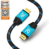 Ultra HDTV 4K HDMI Kabel, Premium Zertifiziert, 1 Meter/HDMI 2.0b, UHD bei vollen 60Hz (Keine Ruckler) / HDR10+, 3D, ARC, Ethernet, Dolby Vision