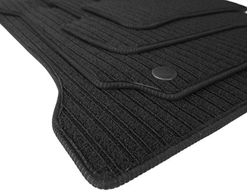 Kfzpremiumteile24 Rips tappeto AMG, qualità originale, 4 pezzi auto in velluto nero