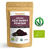 Organic Açai Berries Powder [ Freeze-Dried ] 100g | 100% Pure Brazilian Acai, Lyophilised, Raw. Extract from Acai Berry Pulp. Superfood Rich in Antioxidants and Vitamins | Vegan & Vegetarian Friendly.