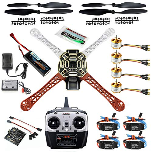 Qwinout DIY 8CH KK V2.3 F450 Frame RC Quadcopter 4-Axle UFO Unassembly Kit RTF/ARF Basic Drone