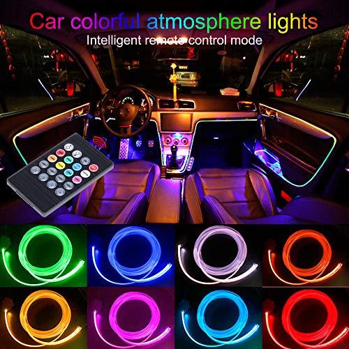 Taben auto decorazione interna atmosfera luce LED interni auto kit di illuminazione con 8colori,...
