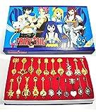 CoolChange Fairy Tail Lucy Schlüssel Set mit 21 Schlüssel Anhängern