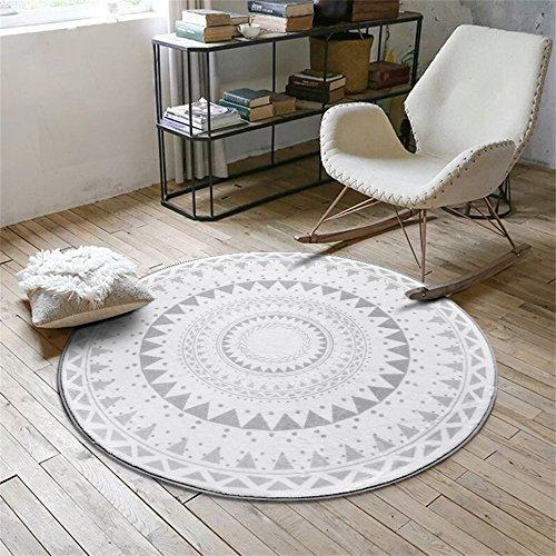 Yu- tappeto Moda nordica Mosaico Circolare Moquette Tavolino da caffè Camera da Letto Soggiorno...