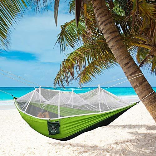 DHIDWWBBH Camping extérieur portatif moustiquaire en Nylon hamac Suspendu lit balançoire Dormir, Orange 29