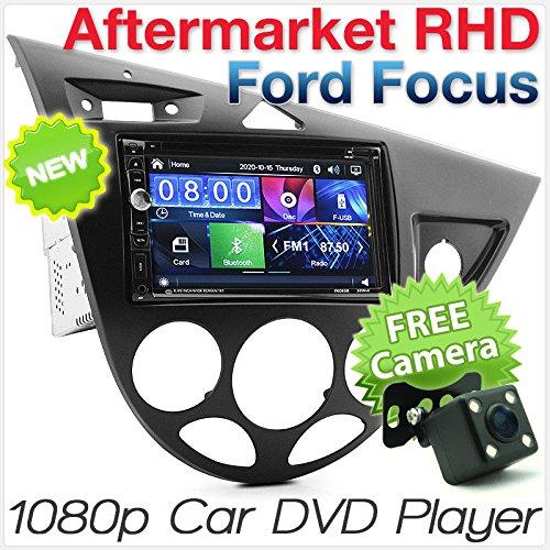 tunez 7 pulgadas Doble Din en el tablero Estéreo para Ford Focus MK1 1ra generación 1998 - 2004 Pantalla táctil Coche DVD MP3 MP4 FM AM Unidad principal Radio Estéreo Kit de fascia