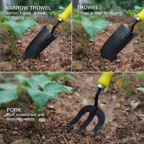 Tacklife Kit D 39 Outils De Jardinage Fourche Et Pelle Bricolage Transplant En Acier Carbone