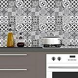 Ambiance-Live Cuadros de Cemento Adhesivos para Pared-Azulejos-20x 20cm-60Piezas